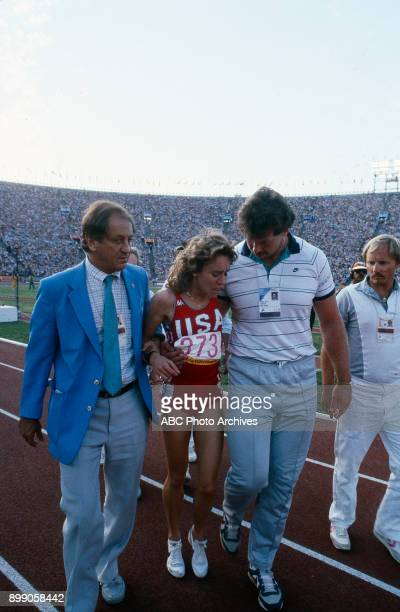 Mary Decker Women's 3000 Meter competition Memorial Coliseum at the 1984 Summer Olympics August 10 1984