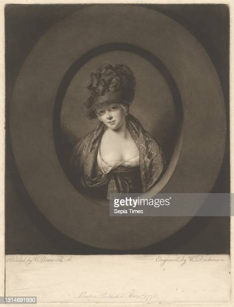 Mary Dickinson as the Country Girl, Print made by William Dickinson, 1746–1823, British, after Matthew William Peters, 1742–1814, British Mezzotint...