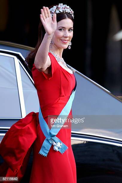 Mary Donaldson Arriving For A Gala Performance At The Royal Theatre In Copenhagen To Celebrate Her Forthcoming Marriage