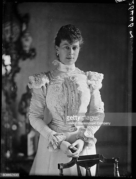 Mary Duchess of York formerly Mary of Teck the consort of the future King George V circa 1895