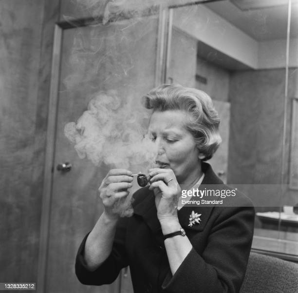 Mary Dunhill , chair of Alfred Dunhill Ltd, UK, 31st March 1965. She is the daughter of founder Alfred Dunhill.