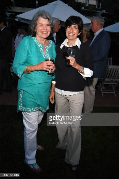 Mary Durkin and Nancy Kurz attend Cocktails at John Jodie Eastman's for The New York Stem Cell Foundation at a Private Residence on July 24 2009 in...