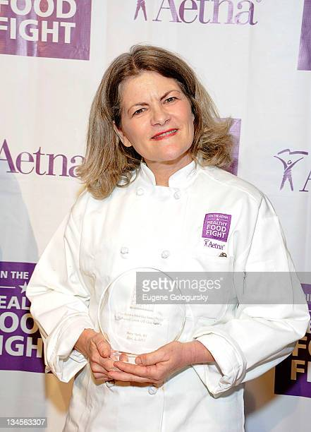 Mary Edwards attends the Aetna Healthy Food Fight regional semifinal cookoff at ABC Studios on December 2 2011 in New York City