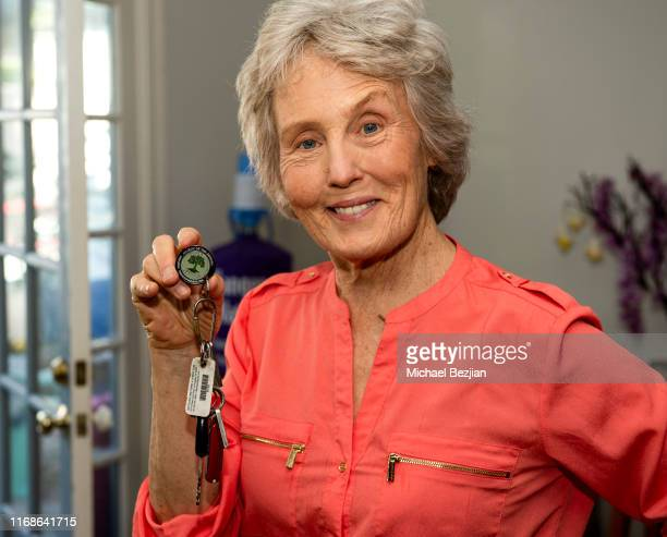Mary Eileen O'Donnell receives First Break Medallion sponsored by Watar Foundation at TAP The Artists Project Giveback Day on August 16 2019 in Los...