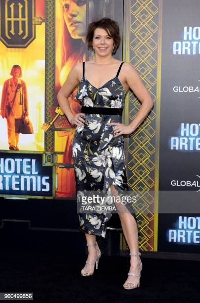 Mary Elizabeth Ellis attends the Los Angeles premiere of 'Hotel Artemis' on May 19, 2018 in Westwood Village, California.
