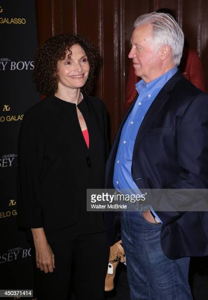 Mary Elizabeth Mastrantonio and husband Pat O'Connor attend a special New York screening reception for 'Jersey Boys' hosted by Angelo Galasso at...