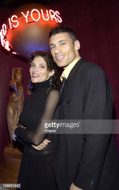 Mary Elizabeth Mastrantonio and Steven Bauer during Scarface 20th Anniversary Rerelease Celebration After Party in New York City New York United...