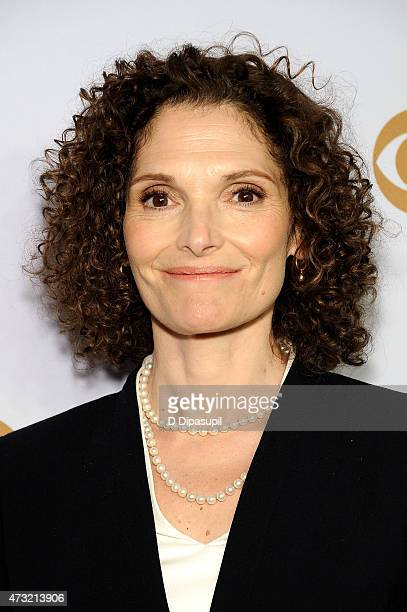 Mary Elizabeth Mastrantonio attends the 2015 CBS Upfront at The Tent at Lincoln Center on May 13 2015 in New York City