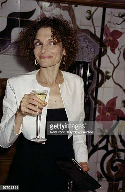 Mary Elizabeth Mastrantonio is on hand for party at the Box Tree restaurant following premiere of the movie My Life So Far She stars in the film