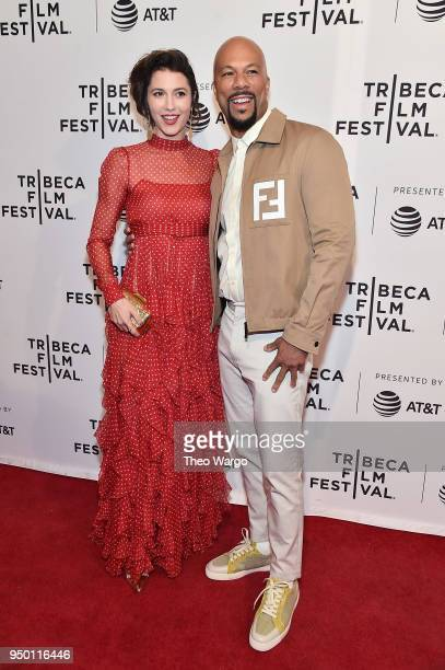 Mary Elizabeth Winstead and Common attend a screening of 'All About Nina' during the 2018 Tribeca Film Festival at SVA Theatre on April 22 2018 in...