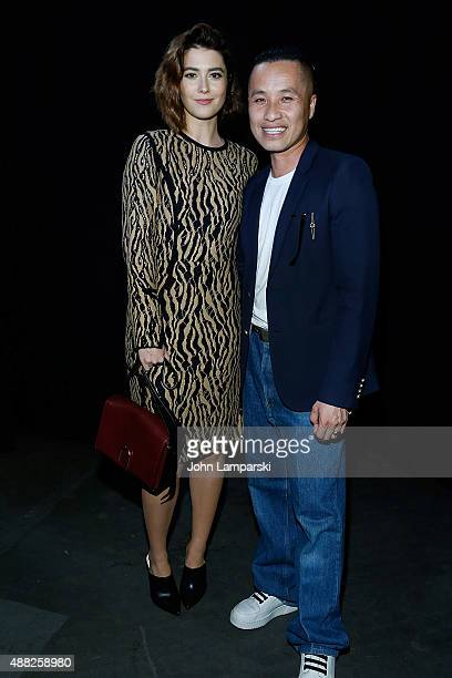 Mary Elizabeth Winstead and Designer Phillip Lim attend the Phillip Lim collection during Spring 2016 New York Fashion Week at Pier 94 on September...