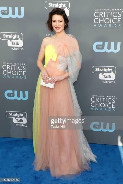 Mary Elizabeth Winstead attends the 23rd Annual Critics' Choice Awards at Barker Hangar on January 11 2018 in Santa Monica California