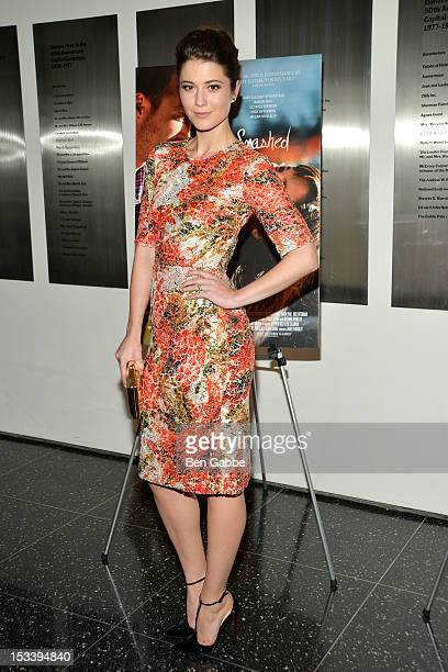 Mary Elizabeth Winstead attends the Smashed New York Premiere at the Museum of Modern Art on October 4 2012 in New York City