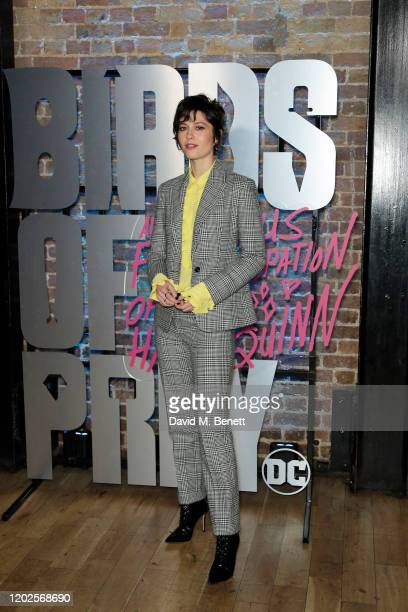 Mary Elizabeth Winstead attends the UK Photocall for Birds Of Prey at Harley Quinn's PopUp Roller Disco at The Steel Yard on January 28 2020 in...