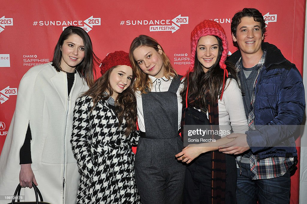 Mary Elizabeth Winstead , Kaitlyn Dever , Brie Larson , Shailene Woodley and Miles Teller attend 'The Spectacular Now' premiere at Library Center Theater during the 2013 Sundance Film Festival on January 18, 2013 in Park City, Utah.