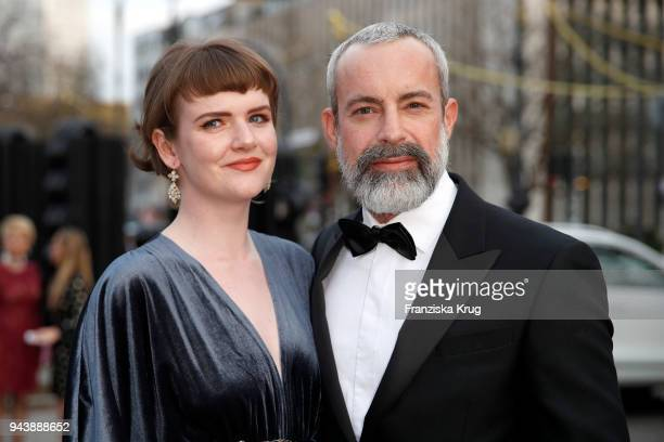 Mary Ellen and Gedeon Burkhard attend the Victress Awards gala on April 9 2018 in Berlin Germany