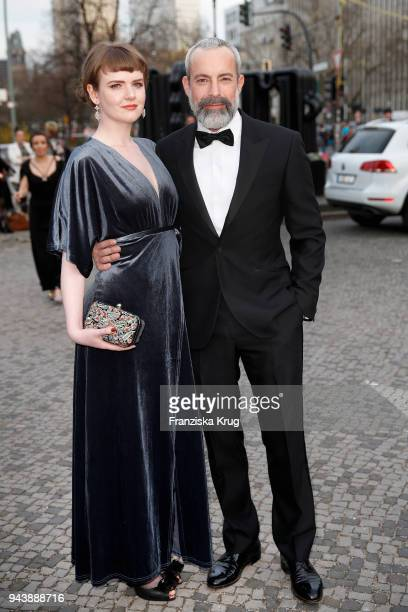 Mary Ellen and Gedeon Burkhard attend the Victress Awards gala on April 9, 2018 in Berlin, Germany.