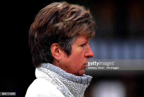 Mary Ellen Collis formery of Wardana Kennels arrives at Corby Magistrates court charged with causing unnecessary suffering to 85 dogs and failing to...
