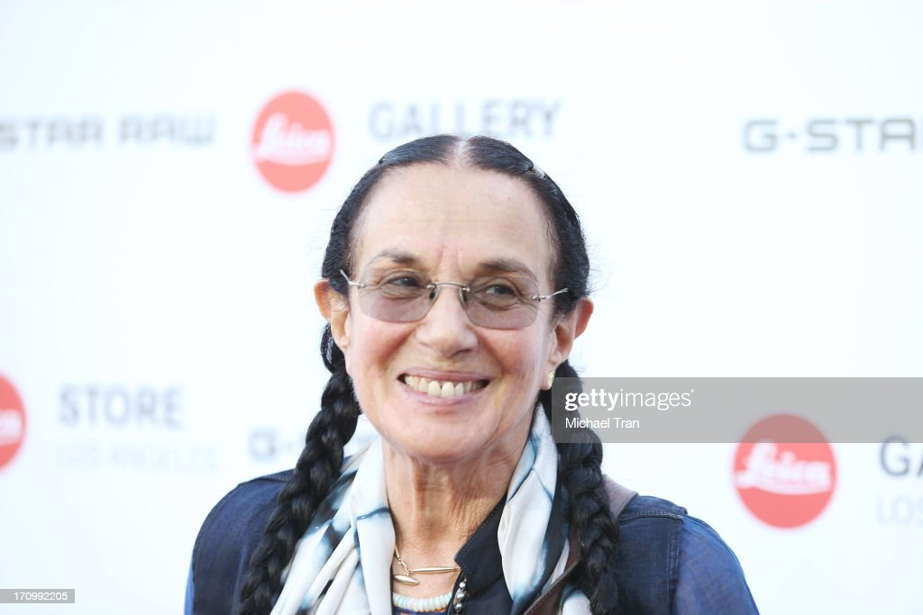 Mary Ellen Mark arrives at the grand opening of the Leica Store Los Angeles held on June 20, 2013 in Los Angeles, California.