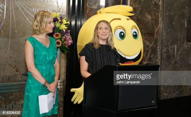 Mary Ellen Miller Vice President of Development Girls Who Code and Sara Link President of Oath Foundation speak as The Emoji Movie celebrates World...