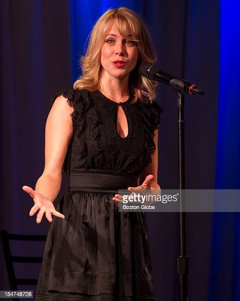 Mary Faber a Broadway actress/singer performing at a dinner reception in celebration of philanthropy at Massachusetts General Hospital on lawn in...