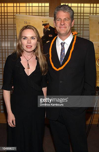 Mary Fahl and director Jim Simpson during New York Premiere of The Guys at Alice Tully Hall Lincoln Center in New York City New York United States