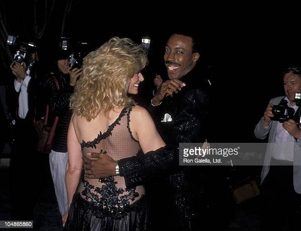 Mary Frann and Arsenio Hall during The 15th Annual People's Choice Awards at Disney Studios in Burbank California United States
