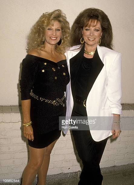 Mary Frann and Jackie Collins during NBC's Annual Fall Press Tour at Century Plaza Hotel in Los Angeles California United States