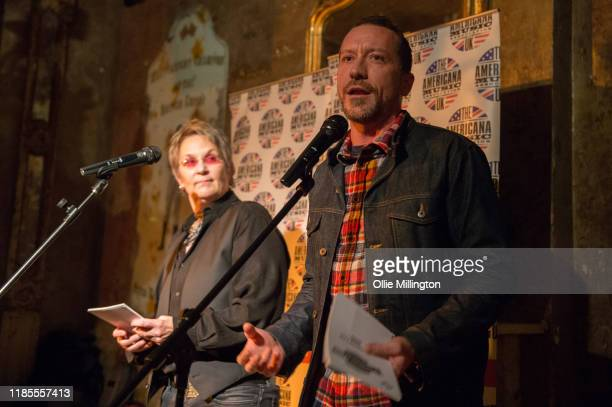 Mary Gauthier and Baylen Leonard present the nominations at the 5th annual Americana Awards press launch night at The Old Queens Head on November 4...