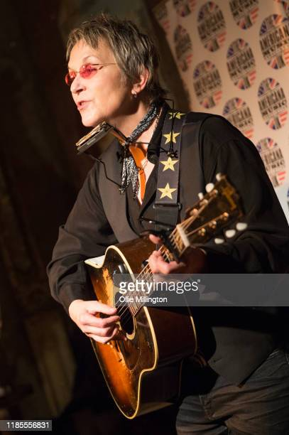 Mary Gauthier performs at the 5th annual Americana Awards press launch night at The Old Queens Head on November 4 2019 in Islington England