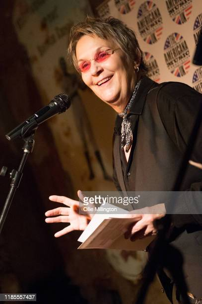 Mary Gauthier presents the nominations at the 5th annual Americana Awards press launch night at The Old Queens Head on November 4 2019 in Islington...
