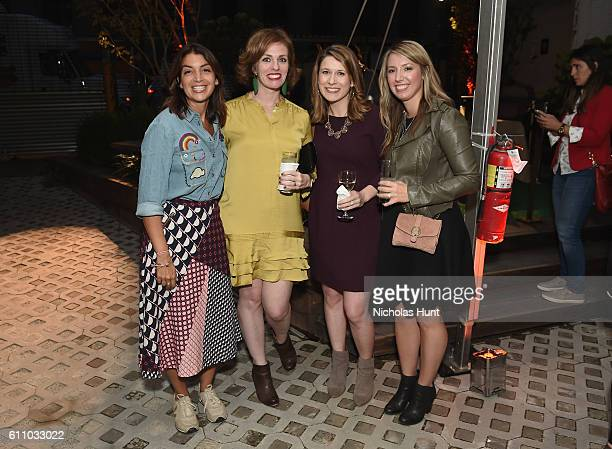 Mary Giuliani, Brooke Young, Rachel Kracht and Samantha Bridger attend the celebration of the launch of Rachael Ray's Nutrish DISH with a Puppy Party...