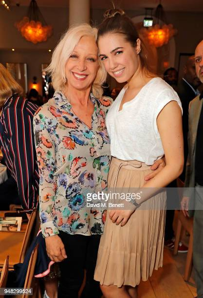 Mary Greenwell and Amber Le Bon attend the Wildsmith Skin launch dinner cohosted by Skye Gyngell Kathleen BairdMurray at Spring at Somerset House on...