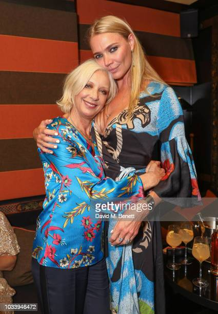 Mary Greenwell and Jodie Kidd attend the Temperley London SS19 after party hosted by Alice Temperley and Amy Sacco at Bungalow Blakes on September 15...