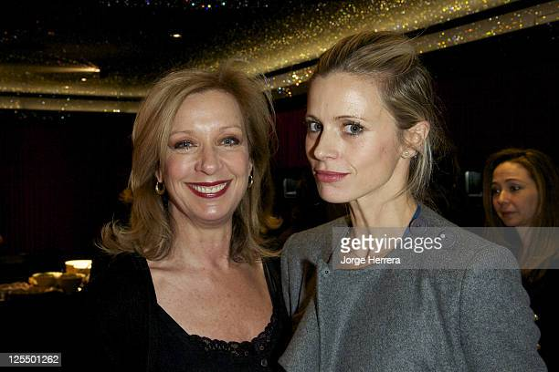 Mary Greenwell and Laura Bailey attend the Solange AzaguryPartridge Ladies Lunch at the Solange AzaguryPartridge Store on November 30 2010 in London...