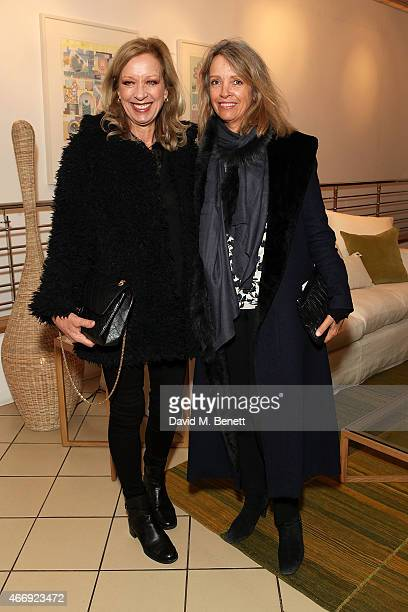 Mary Greenwell and Sabrina Guinness attend the launch of Conran Italia at The Conran Shop on March 19 2015 in London England