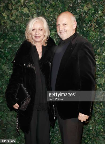 Mary Greenwell and Sam McKnight attend a pre BAFTA party hosted by Charles Finch and Chanel at Annabel's on February 11 2017 in London England