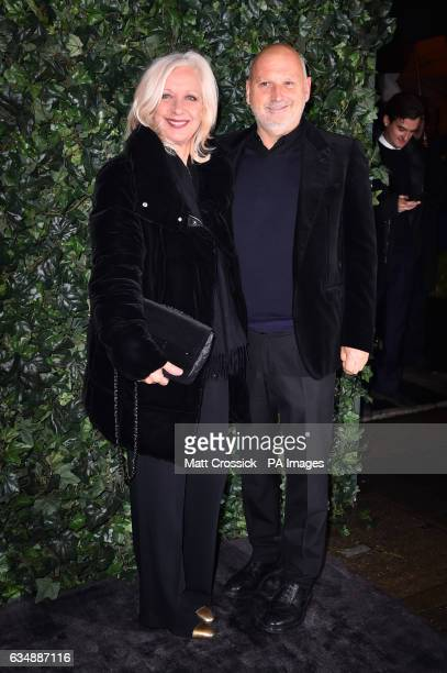 Mary Greenwell and Sam McKnight attending the Charles Finch and Chanel hosted preBAFTA party at Annabel's in London