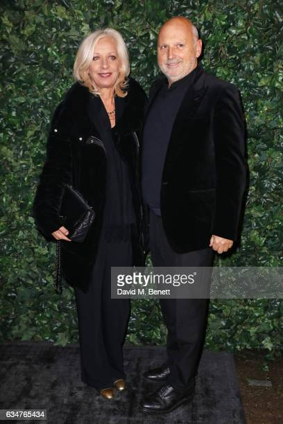 Mary Greenwell and Sam McKnight attends a pre BAFTA party hosted by Charles Finch and Chanel at Annabel's on February 11 2017 in London England