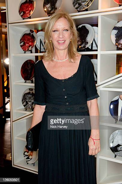 Mary Greenwell attends the 15th Anniversary Party for Voguecom at W London Leicester Square on February 17 2011 in London England