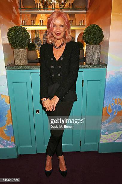 Mary Greenwell attends the Charles Finch and Chanel PreBAFTA cocktail party and dinner at Annabel's on February 13 2016 in London England