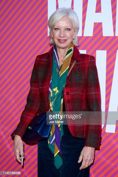 Mary Greenwell attends the Mary Quant VIP preview at the Victoria Albert Museum on April 03 2019 in London England