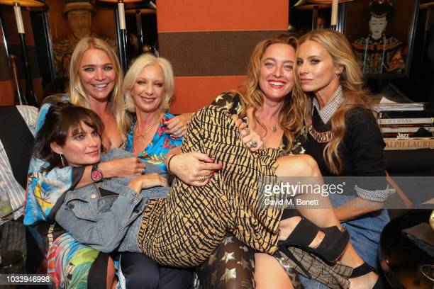 Mary Greenwell Jodie Kidd Alice Temperley and Laura Bailey attend the Temperley London SS19 after party hosted by Alice Temperley and Amy Sacco at...