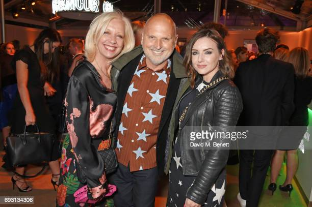 Mary Greenwell Sam McKnight and guest attend the Glamour Women of The Year Awards 2017 in Berkeley Square Gardens on June 6 2017 in London England