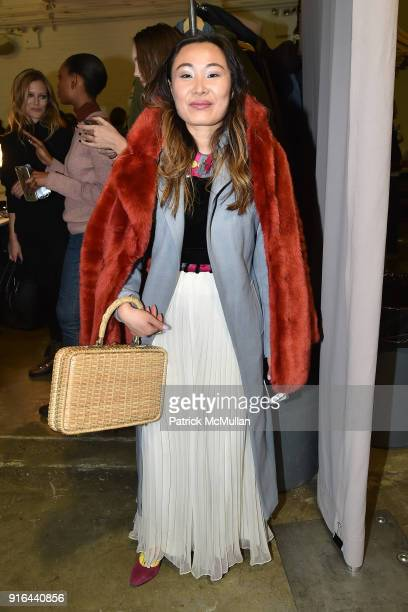Mary Gui attends the Nicole Miller Fall 2018 Runway Show at Industria Studios on February 9 2018 in New York City