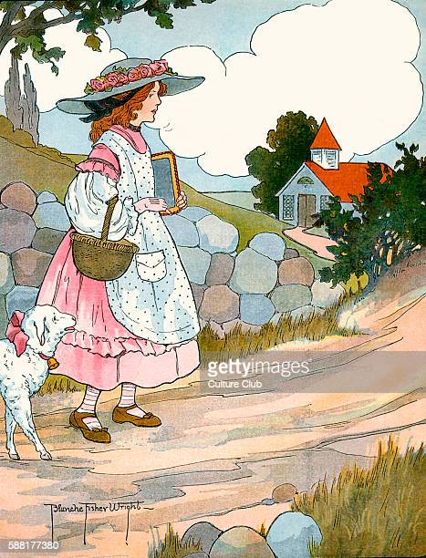 Mary Had a Little Lamb illustration by Blanche Fisher Wright Published 1916 Mary had a little lamb Its fleece was white as snow