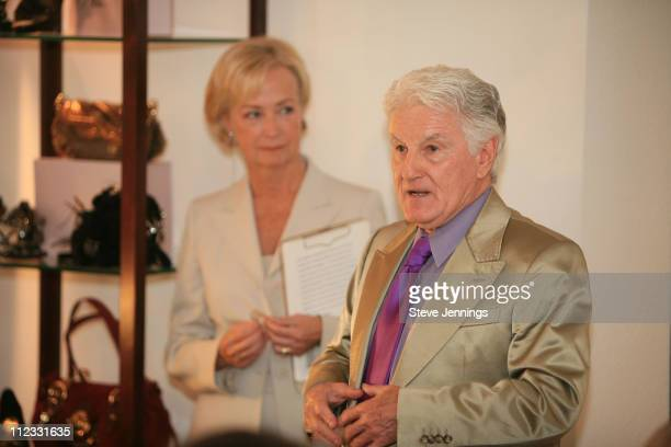 Mary Hamilton and Michael Smuin during Bebe Event at Burke Williams Spa at Burke Williams Spa in San Frnacisco, California, United States.