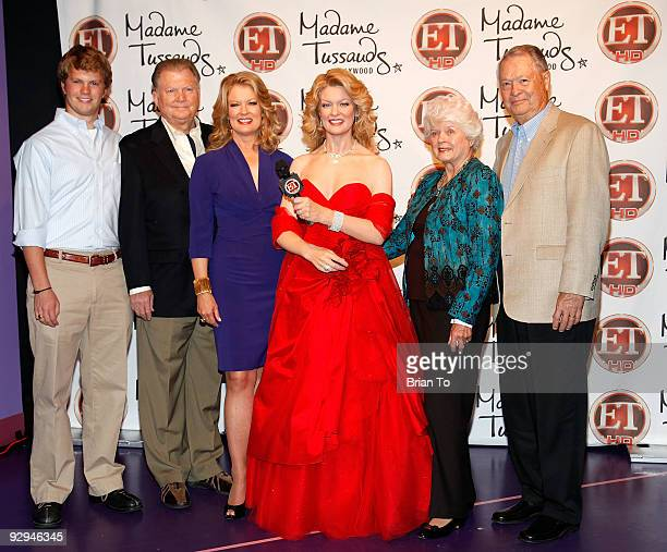 Mary Hart and family attend Mary Hart Wax Figure Unveiling At Madame Tussauds Hollywood at Madame Tussauds on November 9, 2009 in Hollywood,...
