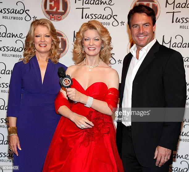 Mary Hart and Mark Steines attend Mary Hart Wax Figure Unveiling At Madame Tussauds Hollywood at Madame Tussauds on November 9, 2009 in Hollywood,...