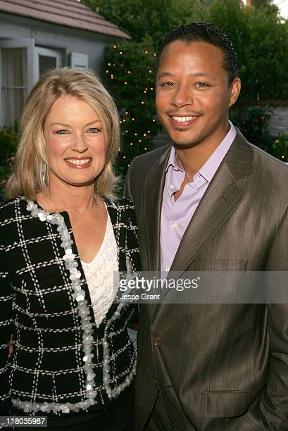 Mary Hart and Terrence Howard during Palm Springs International Film Festival - Meet and Greet at Private Residence in Beverly Hills, California,...